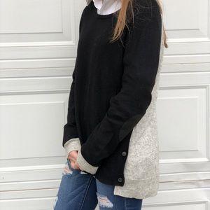◽️J Crew◽️ wool blend elbow patch sweater